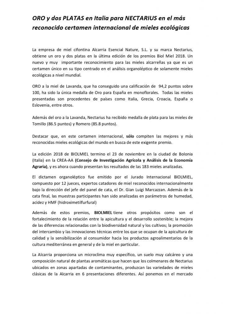 DOSSIER DE PRENSA Miel Nectarius page 0006