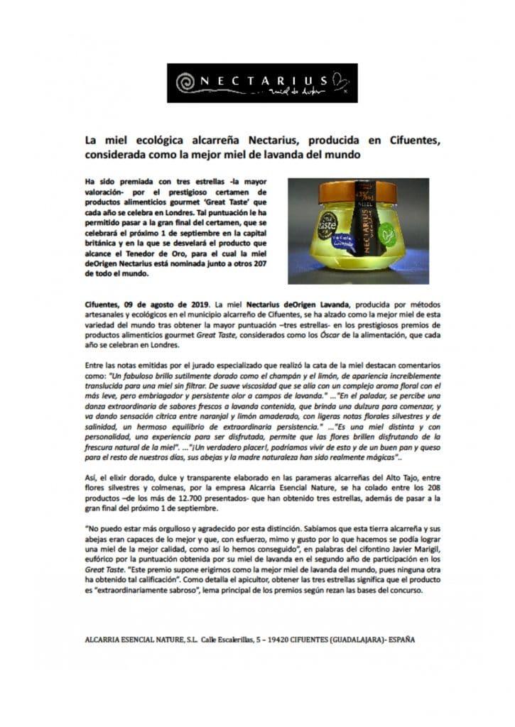 DOSSIER DE PRENSA Miel Nectarius page 0027